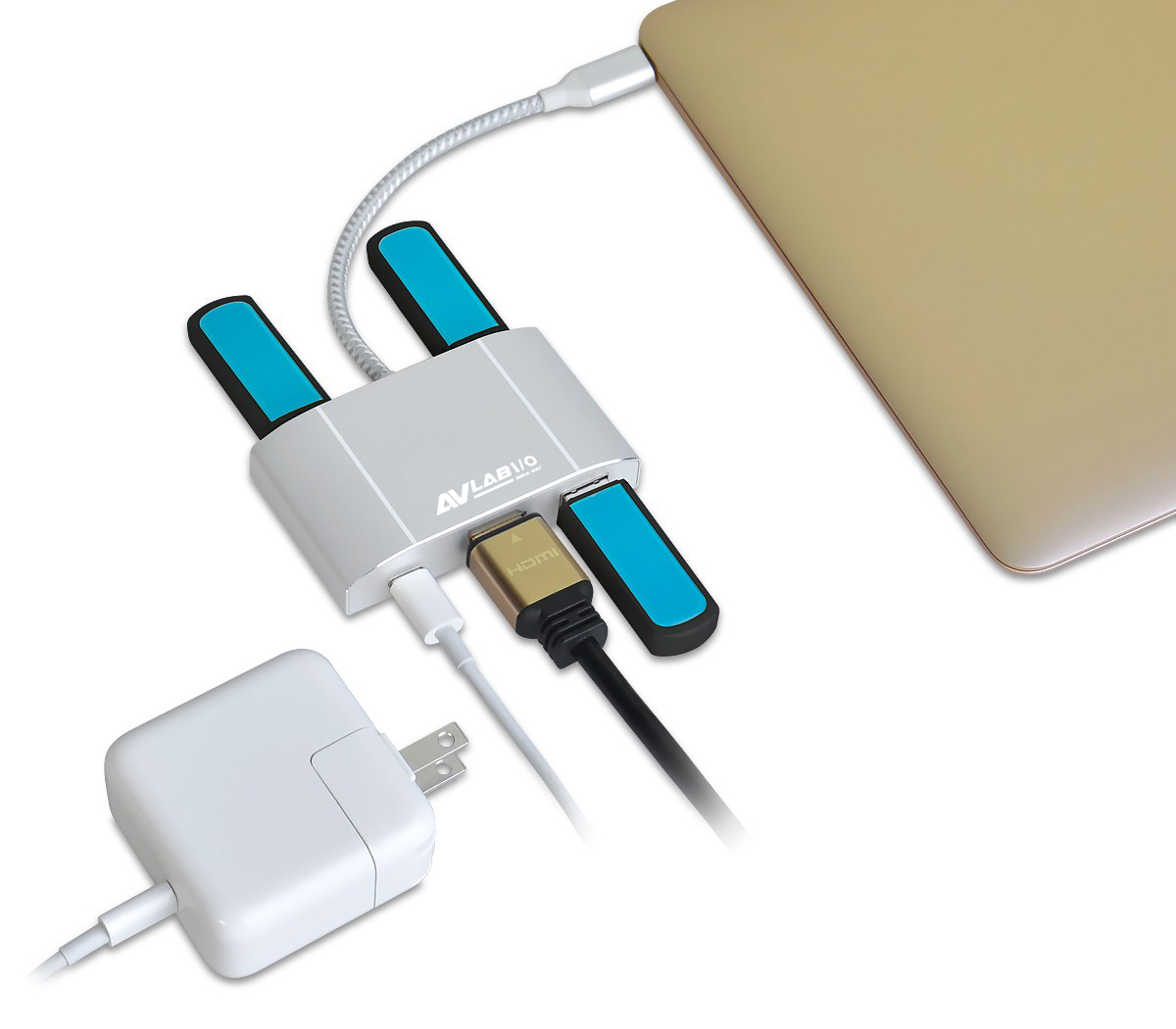 AVLAB USB 3 1 Type-C Hub with HDMI & PD Charging Adapter