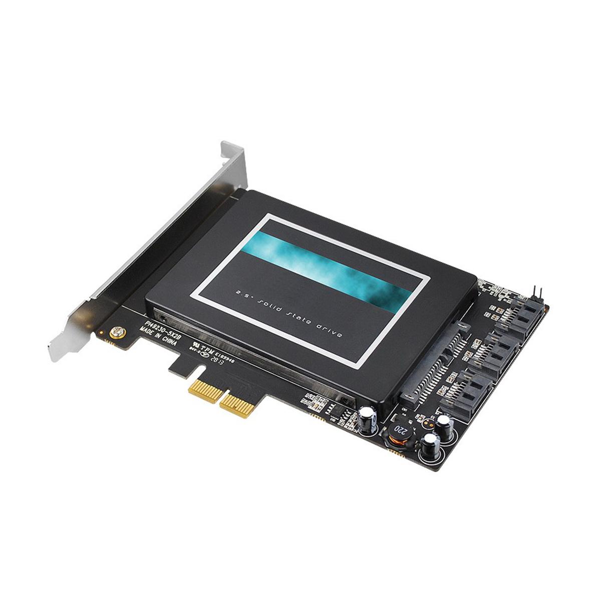 AVLAB 3-Port SATA + SSD Hybrid PCIe, 6Gbps, Internal Serial